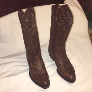 Frye Brown Leather Cowboy Boots Size 7B